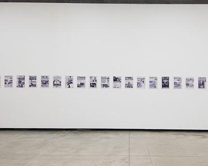 Sala 1. Tapas de Diarios y revistas, de Buenos Aires, Bolivia, Brasil, Chile, Caracas, Perú  1987-2014