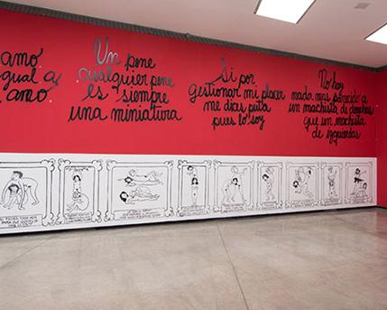 Sala 3.  Mujeres Creando, El eterno kamasutra histórico del patriarcado, 2014