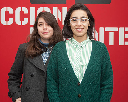 Daniela Escobar y Nadinne Fernanda Canto Novoa