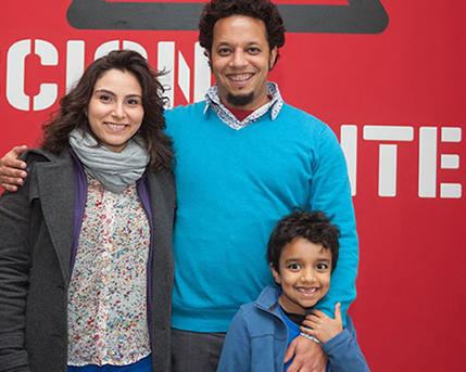Daniel Lima y familia