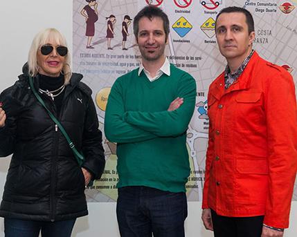Marta Minujín, Daniel Fischer, Rodrigo Alonso