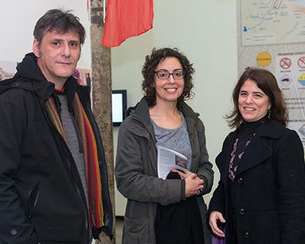 Pablo Ares, Julia Risler y Cecilia Rabossi