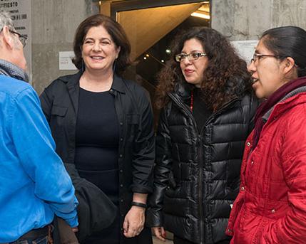Adriana Rosenberg , Danitza Mercedes Luna Tapia y Carolina Otonello