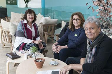 Diana Saiegh, Pilar Altilio, Jorge Caterbetti