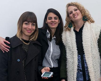 Rosario García Martínez, Camila Villarruel y Julieta Goldin