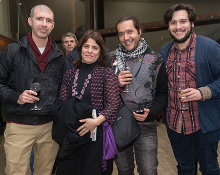 Mariano Ferrante, Cecilia Rabossi, Felipe Brait y Diego Eduardo Parra Donoso