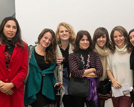 Erika Meza, Lucía Ledesma, Julieta Goldin, Cecilia Rabossi, Cecilia Jaime, Cintia Mezza y Ana Schwartzman