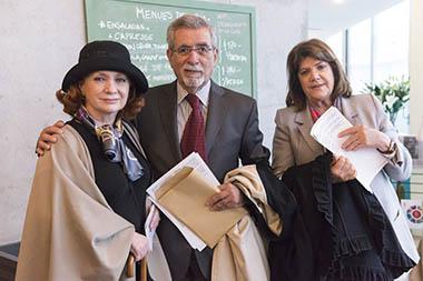 Teresa Fernández, Miguel Frías, Teresa Gowland