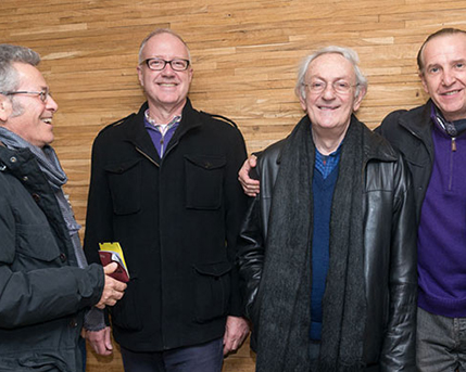 Horacio Zabala, Mauro Herlitzka, Leandro Katz y Sergio Baur