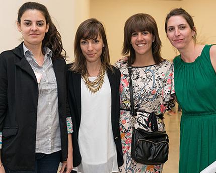 Camila Villaruel, Rosario García Martínez, Cecilia Jaime y Soledad Oliva