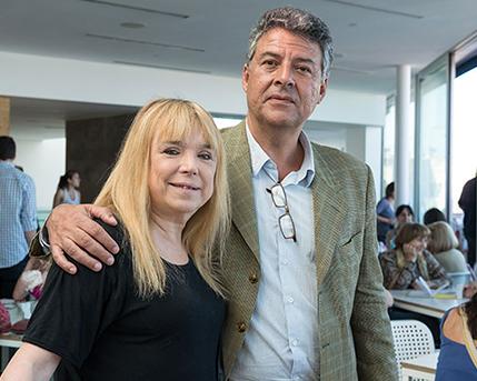 María Moreno y Juan Pablo Correa