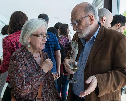 Cristina Martínez y Luis Felipe Noé