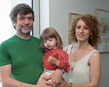 Andrés Sobrino, Adriana Manfredi y Helena