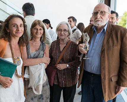 Valentina Vanarsky, María Elena Babino, Cristina Martínez y Luis Felipe Noé