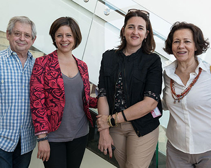 Hugo Petruschansky, Victoria Dotti, Elizabeth Torres y Mini Zucheri