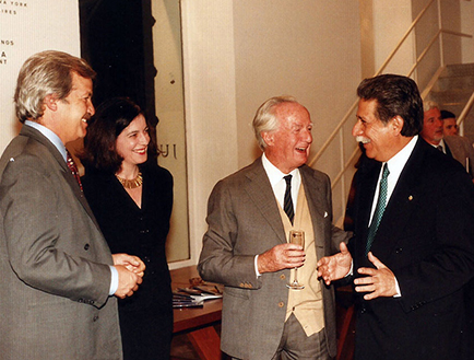 Luis Betnaza, Adriana Rosenberg, Roberto Rocca, Emb. de México.