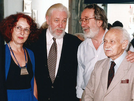 Nora Correas, Jorge Glusberg, Alvaro Castagnino, Romualdo Brughetti, Sra Glusberg