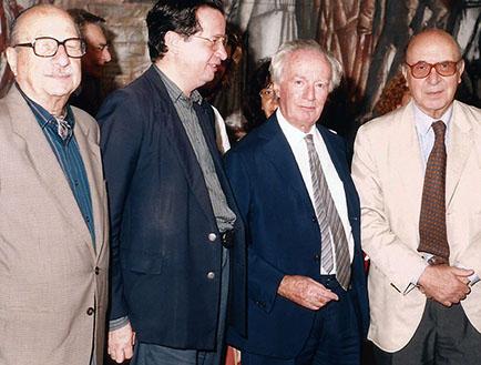 Amilcar Romero, Roberto Rocca y Clorindo Testa