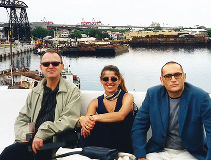 Alejandro Cervera, Claudia Bono y Ernesto Korosky