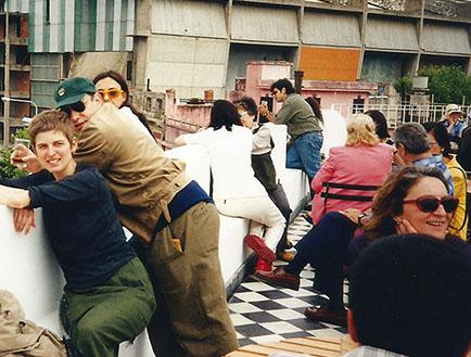 Público en la terraza