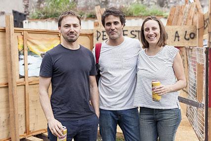 Eduardo Basualdo, José Luis Landet, Lucila Gradin