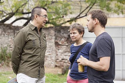 Rodrigo Alonso, Mónica Girón, Eduardo Basualdo