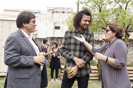 Jaime Abello, Juan Sorrentino, Adriana Rosenberg