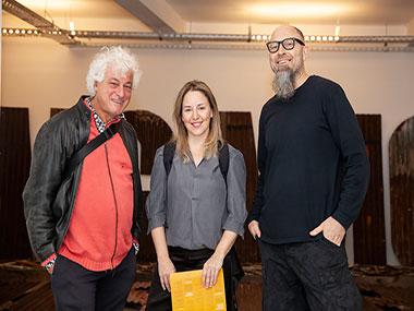 Marcelo Brodsky, Cintia Mezza y Enrique Jezik