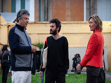 Juan Pablo Correa, Dani Zelko y Cecilia Perkins