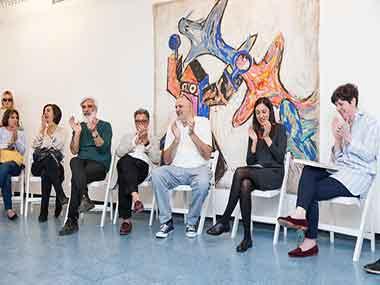 Cristina Carlisle, Santiago Bengolea, Renato Rita, Rafael Bueno, Daniela Lucena y Gisella Laboreau