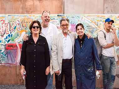 Adriana Rosenberg, Rafael Bueno, Renato Rita Claduia Zemborain y Nahuel Vecino