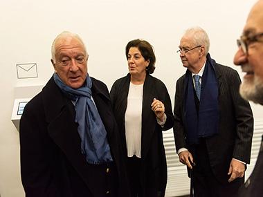 Norberto Frigerio, Adriana Rosenberg, Carlos Franck y Américo Castilla