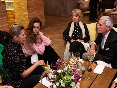 Mónica Gancia y Giorgina Alliata di Montereale, Magdalena Cordero y Esteban Tedesco