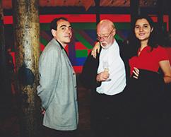 Juan Lecuona, Luis Wells y Sra.