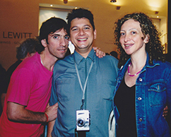 Andrés Baño, Sergio Avello y acompañante