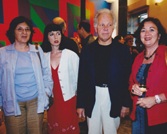 Diana Saiegh, Emilio Basaldúa y Sra.