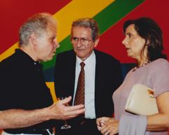 Emilio Basaldúa, Sergio y Maria Einaudi