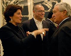 Adriana Rosenberg, Ramiro Martínez y Franco Livini