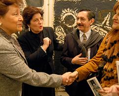 Emb. de Mexico en Argentina, Adriana Rosenberg, Juan Carlos Pereda y Corinne Sacca de Abadi