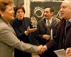 Emb de Mexico en Argentina, Adriana Rosenberg, Juan Carlos Pereda y Norberto Frigerio