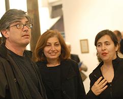 Fernando Diez y Sra junto a Fabiana Barreda