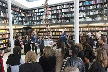Presentación. Daniel Krull, Ministro de la Embajada de Alemania; Adriana Rosenberg; Harald Hermann, Agregado Cultural de la Embajada de Alemania, Maren Schiefelbein, Programadora Cultural de la Embajada de Alemania.