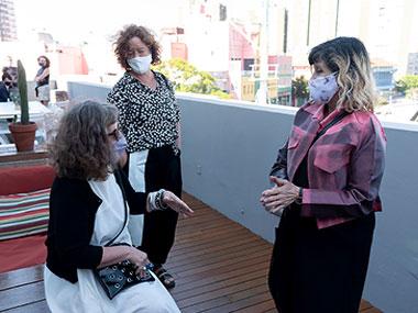 Alicia Herrero, Laura Isola y Patricia Rizzo