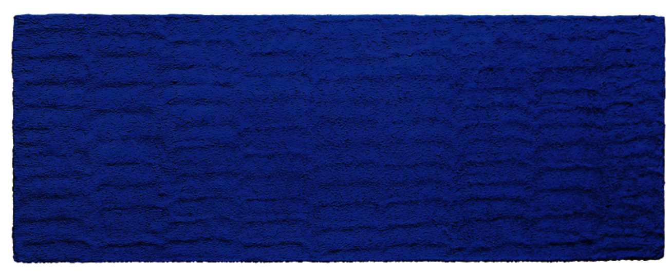 Monocromo azul sin título (IKB 36), 1957 ©Succession Yves Klein, ADAGP, Paris / SAVA, Buenos Aires, 2017.