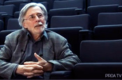 Auditorium - PROA TV. Interview with philosopher Herv� Fischer by Rodrigo Alonso. Part 1