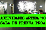arteBA Proa's Press Room. Day by day activities